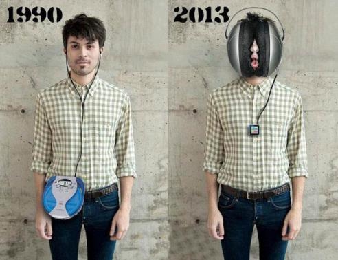 A evolução dos fones entre os anos 60 e 2013