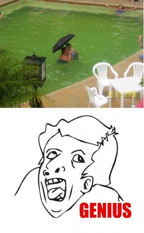 Genius na piscina