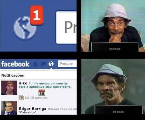 Seu madruga no facebook