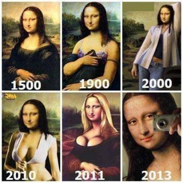 Monalisa durante os anos