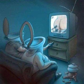 Brasileiro vendo tv ultimamente